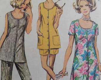 BUTTON FRONT DRESS Pattern • Simplicity 8846 • Miss Half Size • Pull On Pants Pattern • Sewing Patterns • Womens Patterns • WhiletheCatNaps
