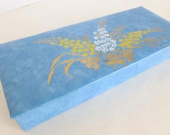 Floral Glove Box Something Blue Wedding Gift