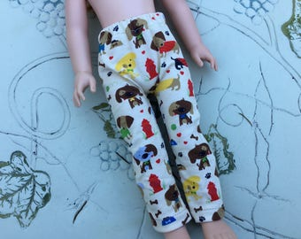 """Puppy dog, leggings, fit Wellie Wisher, 14"""" doll clothes"""