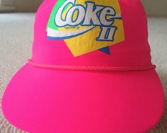 Coke II 90s hot pink hat