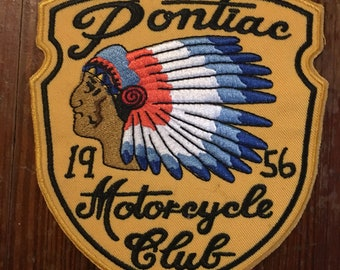Pontiac indian chief motorcycle club 1956 50s 90s patch harley biker