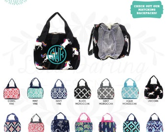 Insulated Lunch Bag Lunch box with Monogram