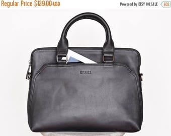 25% OFF Leather laptop bag men - Men's briefcase - Laptop briefcase - Leather messenger bag - Mens portfolio - Slim laptop bag - 13 inch lap