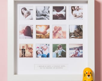 "Personalized ""My First Year"" Square Photo Frame"