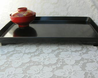 Black Lacquered Japanese Tray