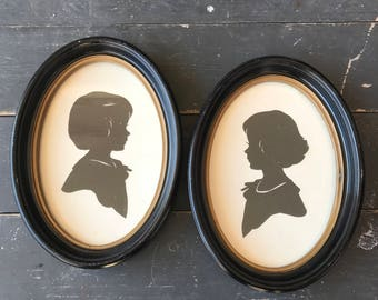 Silhouette Set of Girls