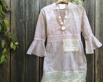 ecru taupe eyelet mother of bride honeymoon romantic summer magnolia barn country gypsy shabby lace roses rustic boho bridesmaid tunic shirt