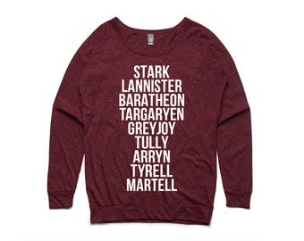 Game of Thrones Houses Women's Pullover by So Effing Cute