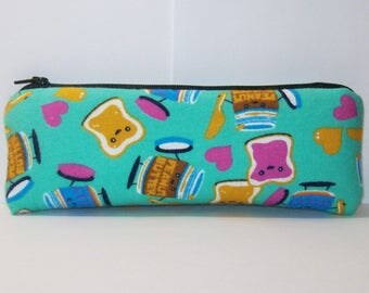 """Padded Pipe Pouch, Peanut Butter & Jelly, Best Friends Gift, Stoner Gift, Cute Pouch, Glass Pipe Cozy, Vape Pen Case, Pipe Bag - 7.5"""" LARGE"""