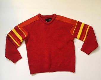 1970's Red Orange Yellow Sweater (8/10)