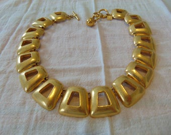 vintage ANNE KLEIN signed gold plated necklace signed mint unused