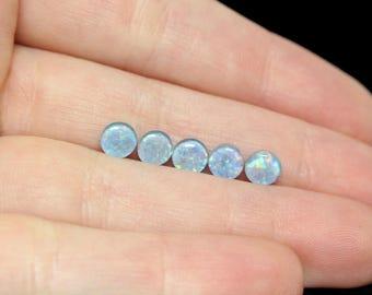 Australian Opal Triplet Set of 5 - 5mm Rounds