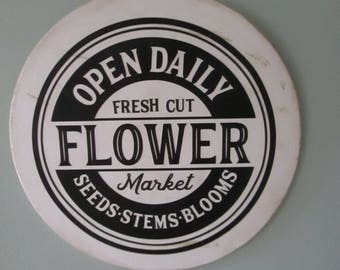 Flower Market Sign  with Free Shipping