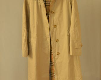 SALE Burberry Trench Coat Vintage 80's womens trench coat beige