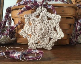 Primitive Snowflake Ornaments Prim Country Decor