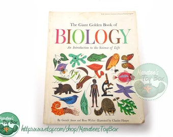 Rare: The Giant Golden Book of Biology Illustrated by Charles Harper Hardcover 1961