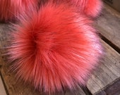 Limited Edition Coho Salmon Pink Faux Fur Pom Poms