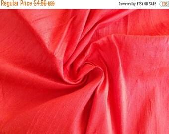 15% off on Fat quarter of100 Percent pure  dupioni silk in unique pink