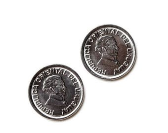 Limited Time Offer Uruguay Coin Cufflinks - Men's Jewelry - Handmade - Gift Box Included