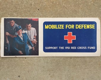Mobilize For Defense - 1951 Red Cross Poster