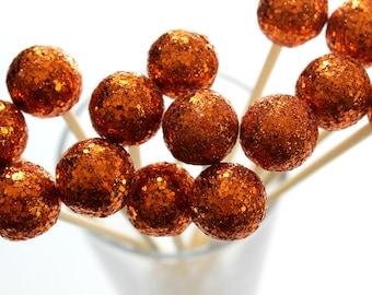 Warm Orange Drink Stirrers, Fall Wedding, Halloween, Party Decor