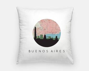 Buenos Aires pillow   Buenos Aires Skyline Map Decor   Buenos Aires Argentina pillow   Boston home decor   throw pillow   city skyline