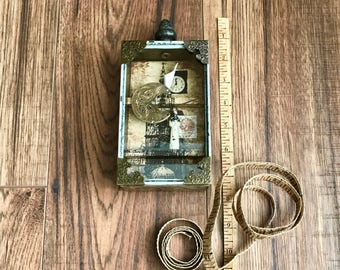 Kindness For Weakness, Assemblage Art, Assemblage Artist, Collage Art, Altered Box, Watch Parts