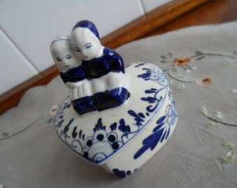 Delft Blue Heart Trinket Box Valentine
