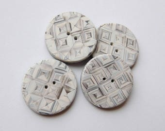 1 inch polymer clay sewing buttons, set of 4 decorative buttons