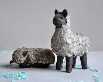 Handmade Ceramic Sheep - Sylvan Wye Pottery