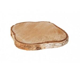 Natural Wood Birch Slice