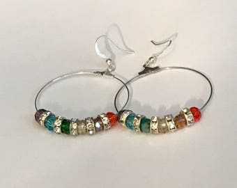 LGBTQ Gay Pride Lesbian Earrings LGBT Jewelry Sparkle Beads