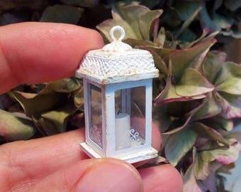 Miniature dollhouse shabby chic lantern