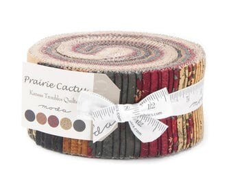 20 % off thru 7/4 PRAIRIE CACTUS Moda Jelly roll Kansas Troubles Quilts Christmas fabric 40 2.5 inch strips 9510JR