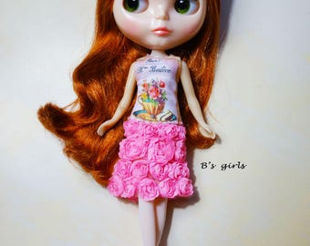 Blythe Party dress Teacup roses