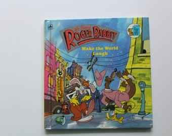 Vintage Who Framed Roger Rabbit Make the World Laugh Hardback Book 1988