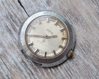 RAKETA Vintage Soviet Russian wrist watch for parts.Didn't work.