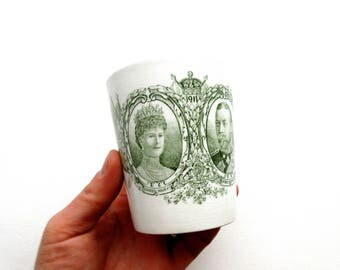 Antique 1911 King George V Queen Mary Coronation Mug - Harrods Ltd.