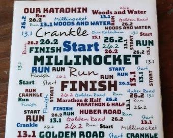 Millinocket Marathon and Half Commemorative Tile