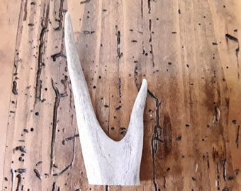 1 real deer antler fork piece bone crafts antlers gift jewelery