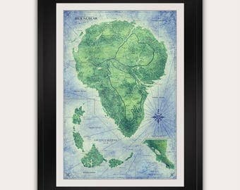 Fantasy maps etsy jurassic park map full color isla nublar map antique style vintage world map gumiabroncs Gallery