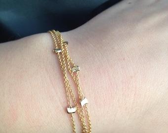 Quadruple Strand Nugget Bracelet