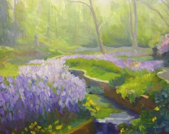 The Winding Creek Original Impressionist Plein Air Oil Painting