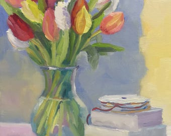 Tulip Still Life Oil Painting on Canvas