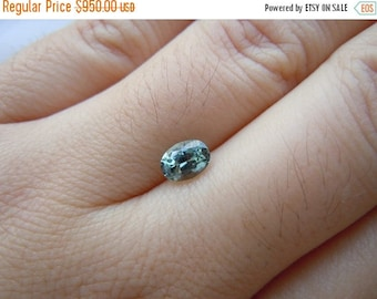 SUMMER FLASH SALE Color Change Genuine Montana Sapphire Light Green Blue Oval Cut 6.4 x 4.7 mm Loose Gemstone for Engagement, Spring Pastels