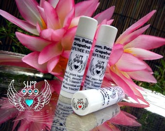 Lemongrass, Patchouli & Grapefruit scented moisturizing stick, petroleum-free, pure essential oils scent sticks