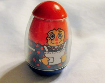 20% Summer SALE Vintage Raggedy Ann Weeble Wooble 1970s toy Bobbs Merrill Co.~Rare Vintage Toy