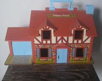 Vintage Fisher Price Tudor House 1980