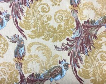 Edinburgh Weavers Treasure Natural printed furnishing fabric by the metre