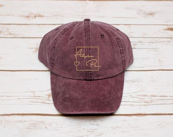 Alpha Phi Hat, Dad Hat, Sorority Baseball Hat, Baseball Hat, Alpha Phi